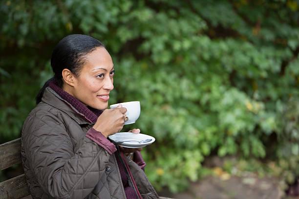 Tea Break in the Garden stock photo