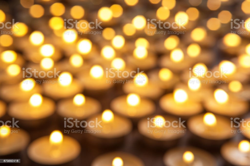 tea candles out of focus royalty-free stock photo