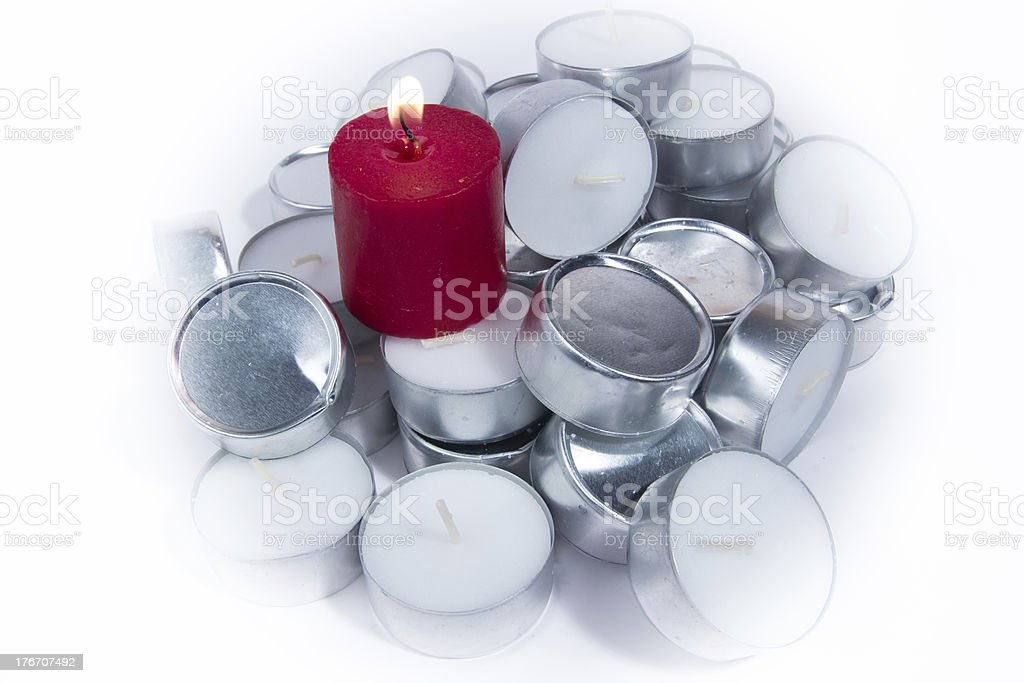 Tea candles royalty-free stock photo