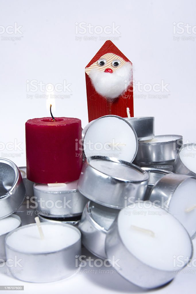 Tea candles stock photo