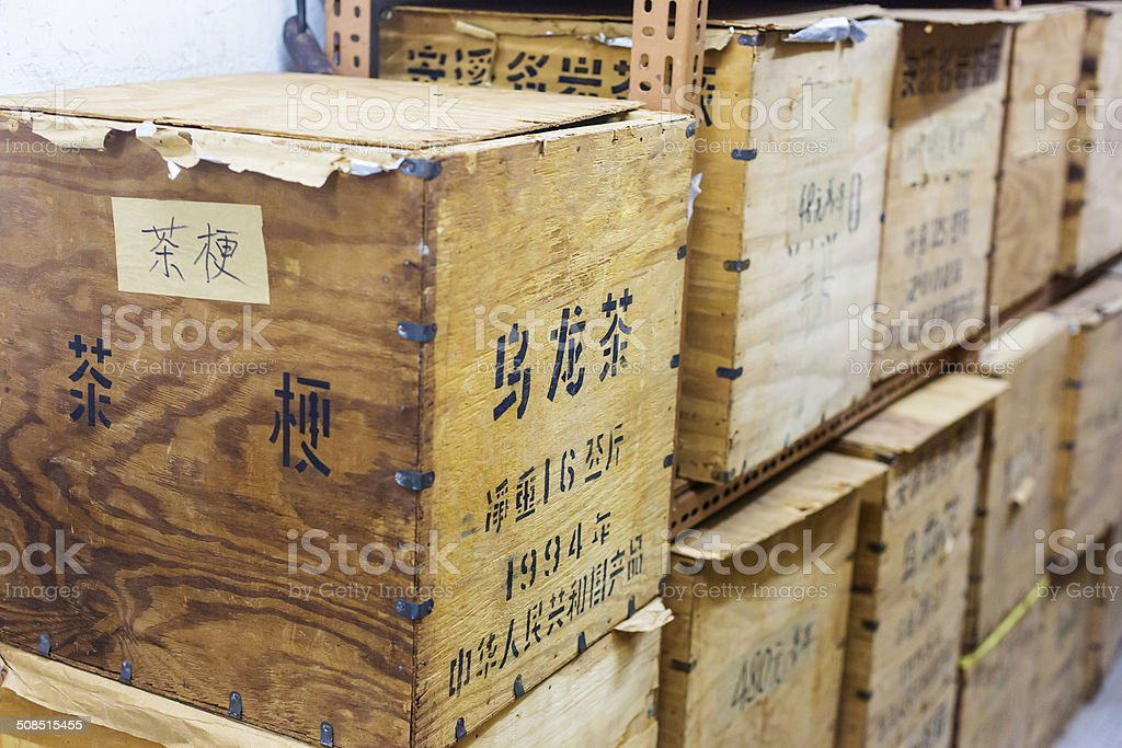 Tea Chests stock photo