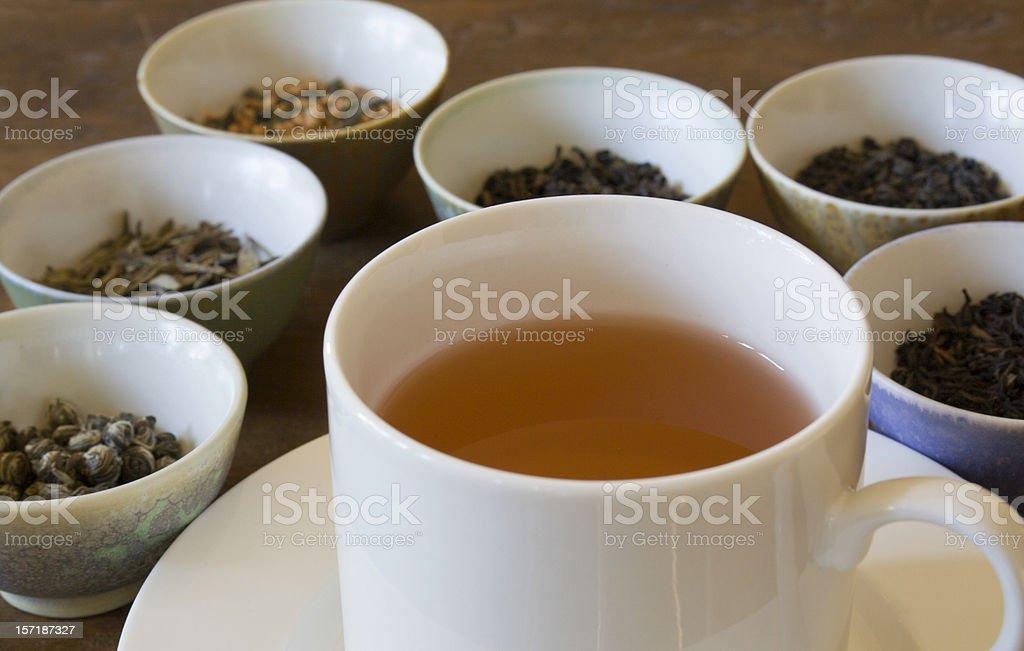 Tea Choices stock photo
