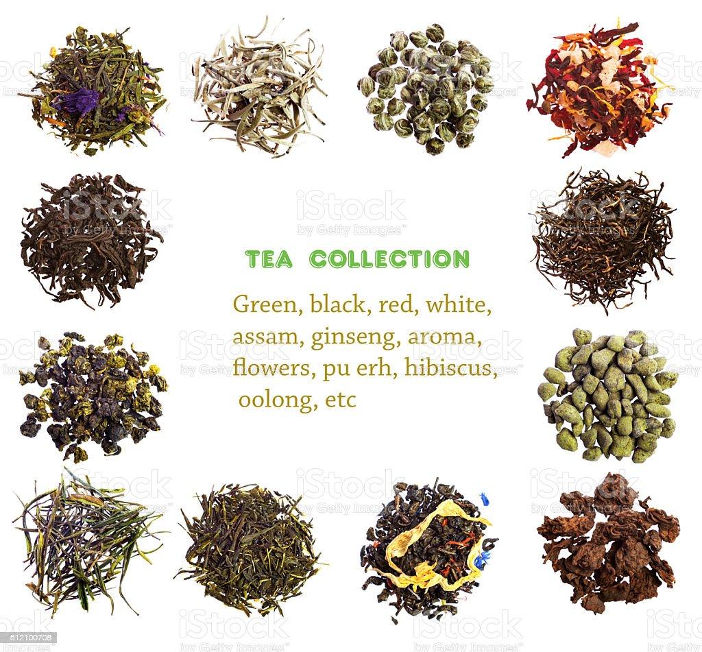 Tea collection stock photo