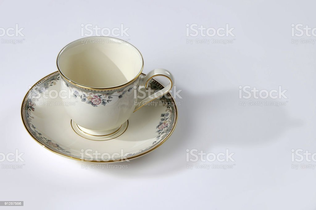 Tea Cup and Saucer royalty-free stock photo