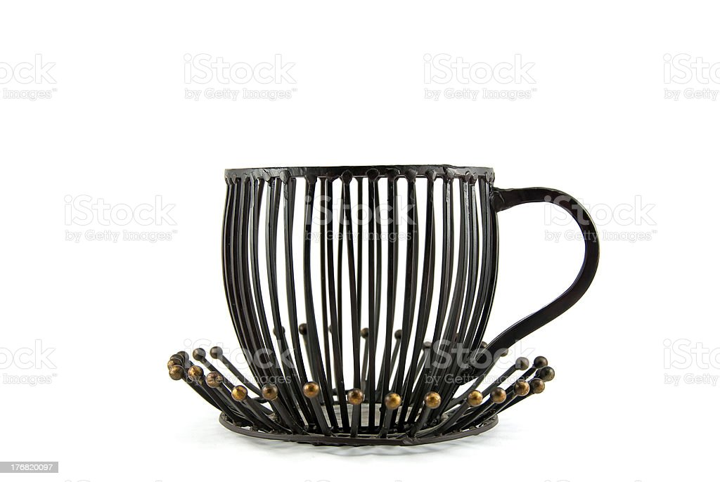 Tea cup decoration royalty-free stock photo