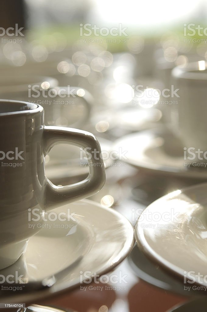 Tea cup handles royalty-free stock photo
