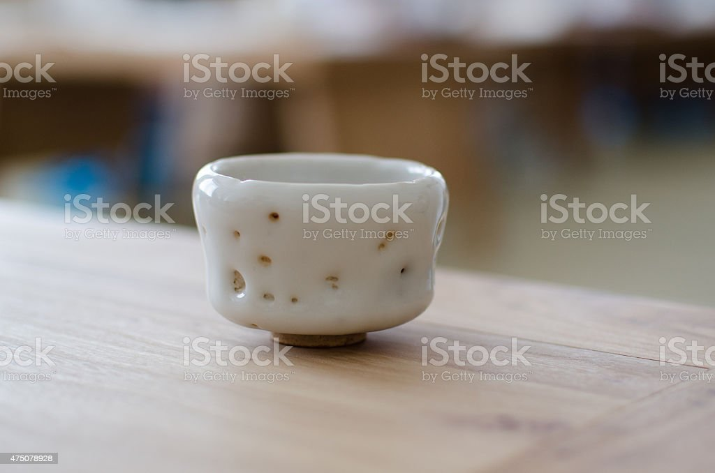 Tea cup in Zen style stock photo