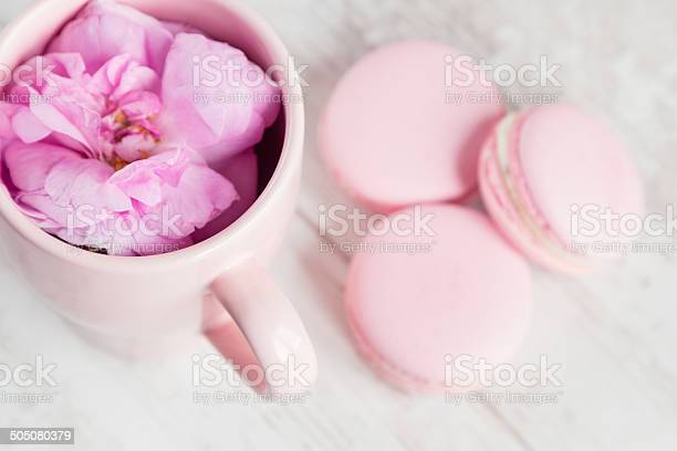 Tea cup with rose and macaroons selective focus picture id505080379?b=1&k=6&m=505080379&s=612x612&h=xl1atmkebqadq2dooldatzfg kcxlx2d67oztdlat0u=