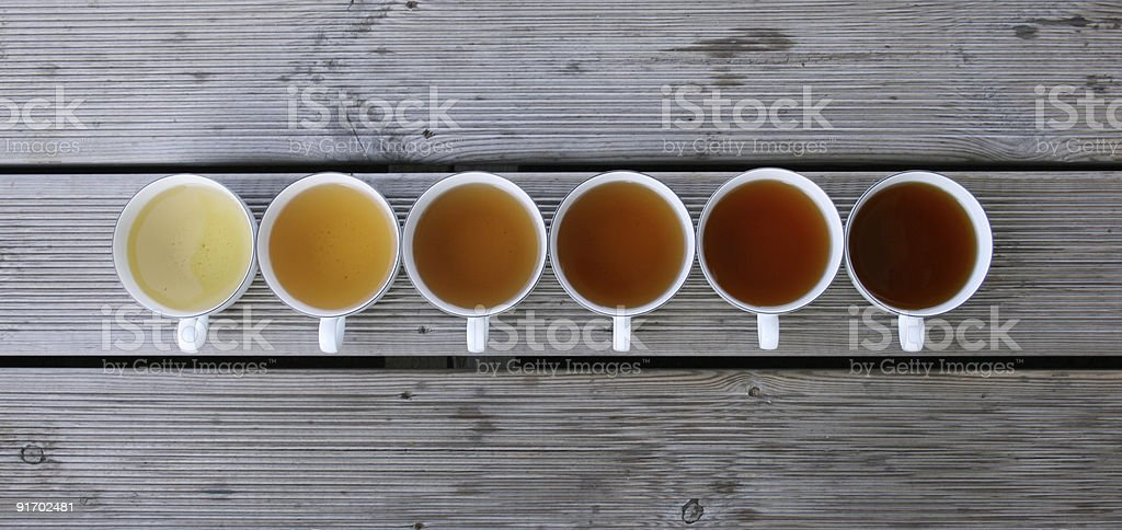Tea cups stock photo