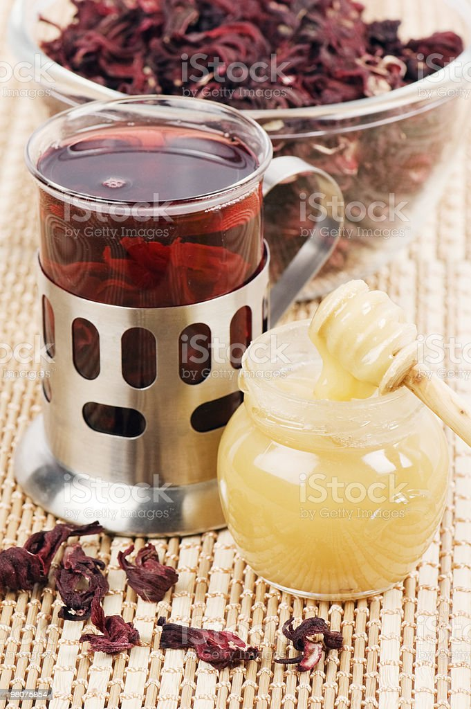 Tea from petals hibiscus royalty-free stock photo