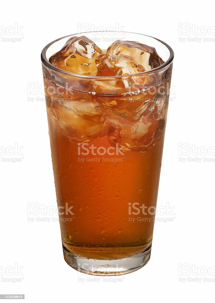 Tea Glass isolated with clipping path royalty-free stock photo