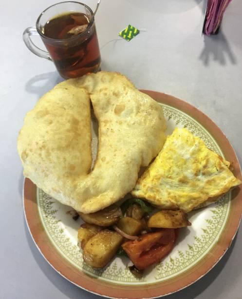 Tea House breakfast stock photo