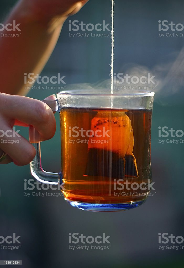 Tea in a bag royalty-free stock photo