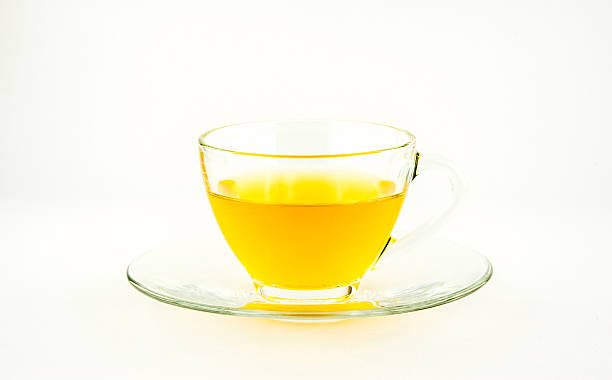 Tea In A Glass stock photo