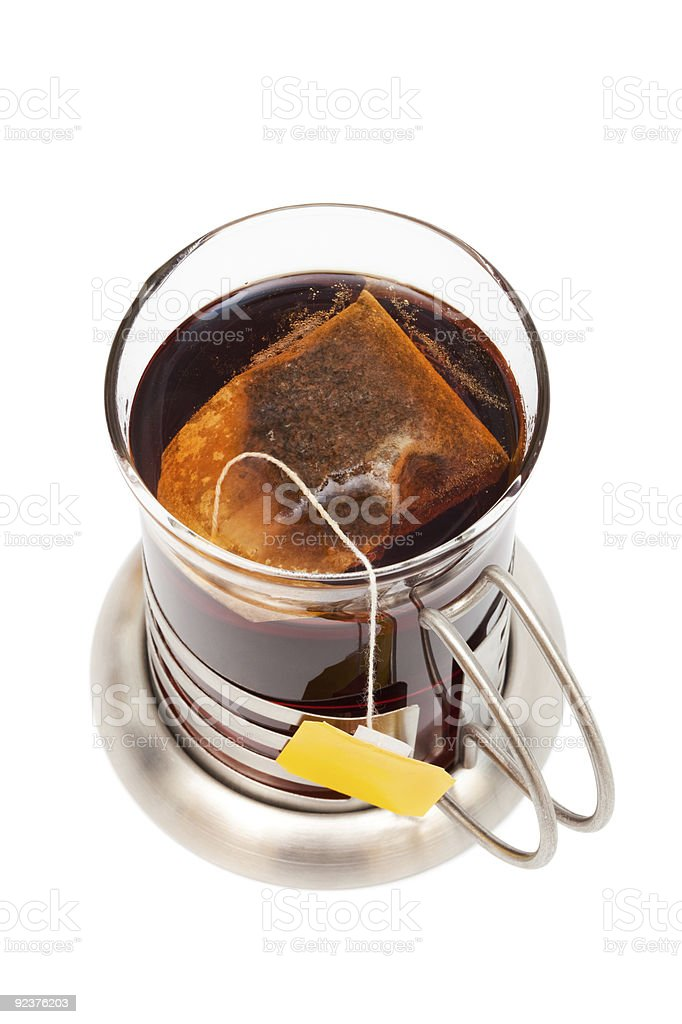 Tea in a glass royalty-free stock photo