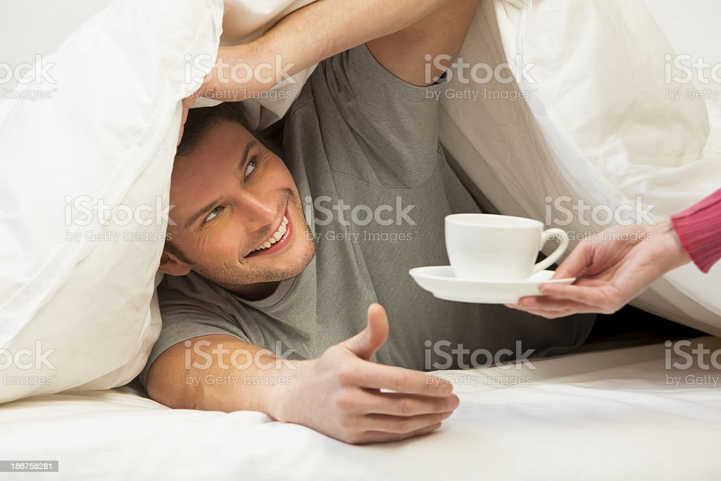 Tea In Bed royalty-free stock photo