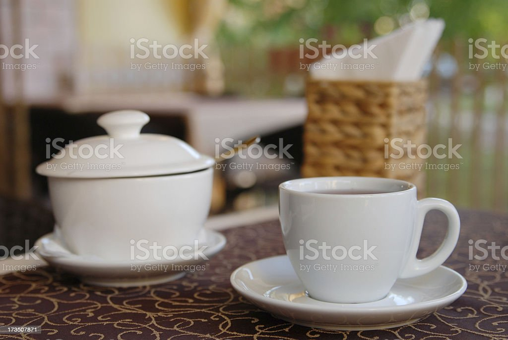 Tea in cafe royalty-free stock photo
