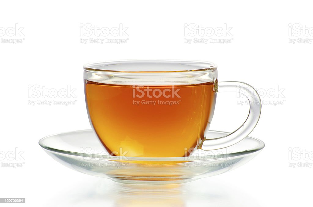 tea in cup stock photo