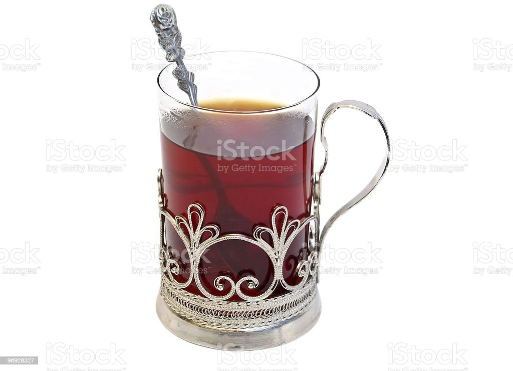 Tea in glass royalty-free stock photo