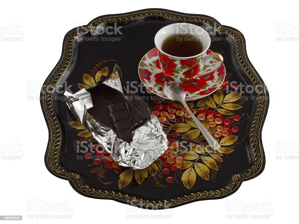 Tea in Russian royalty-free stock photo