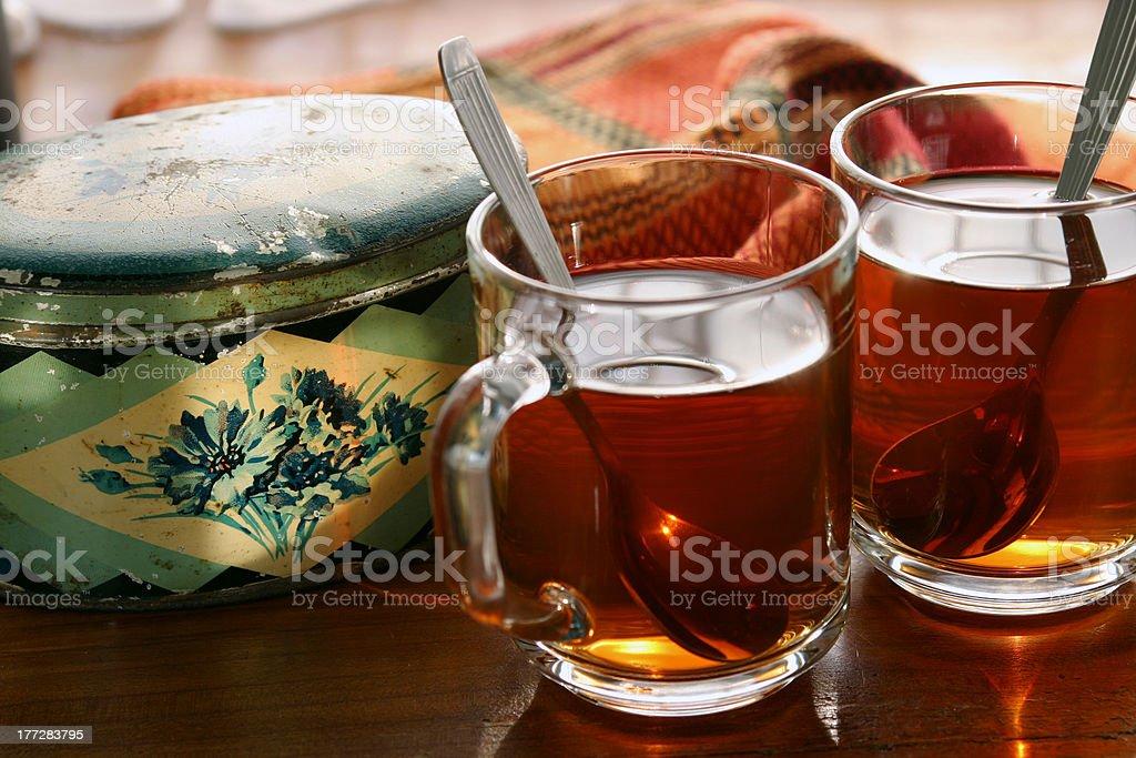 Tea in soft warm stock photo