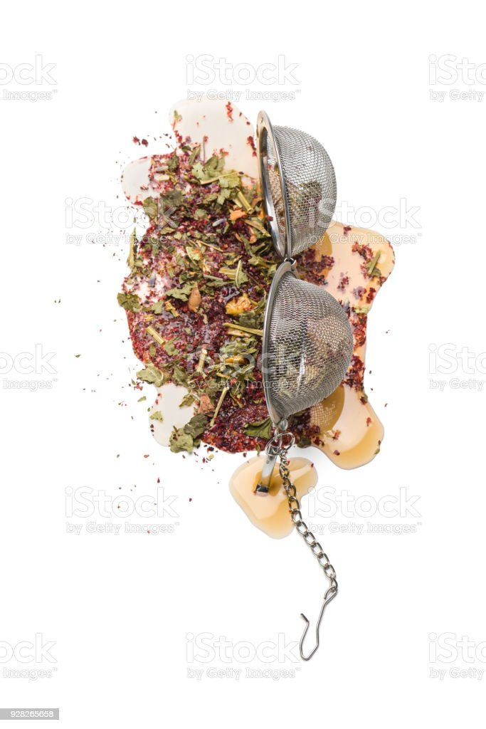 tea infuser stock photo