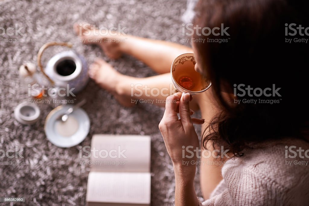 Tea is liquid wisdom stock photo