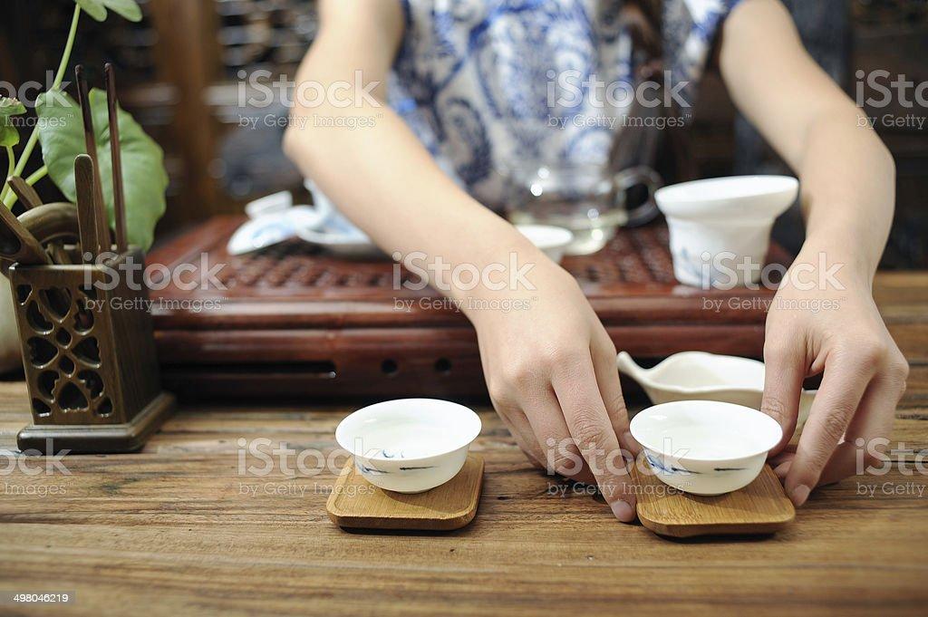 Tea is the tea ceremony stock photo