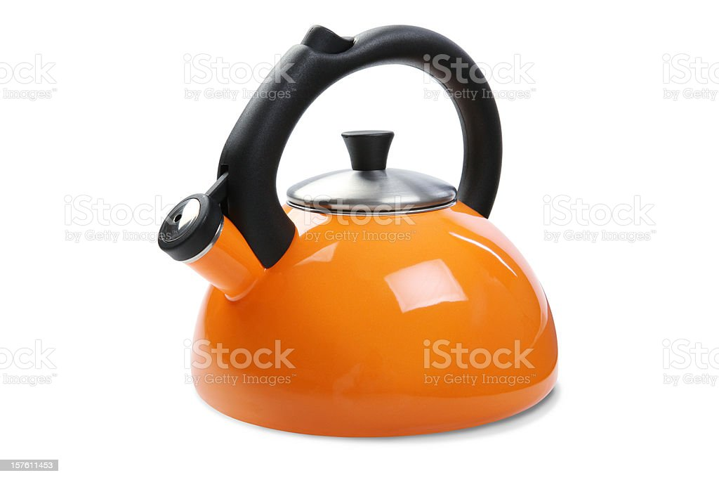 Tea Kettle with Clipping Path stock photo