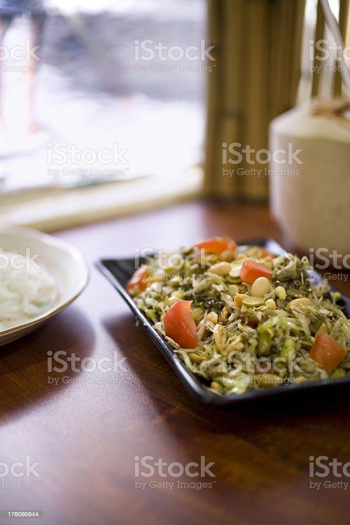 tea leaf salad stock photo