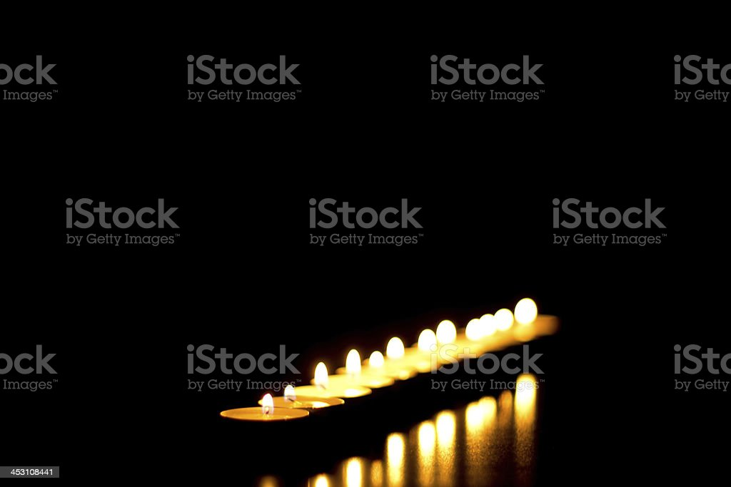 Tea light candles royalty-free stock photo