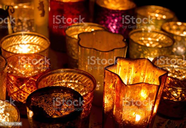 Tea Light Holders At A Christmas Market In Germany Stock Photo Download Image Now Istock