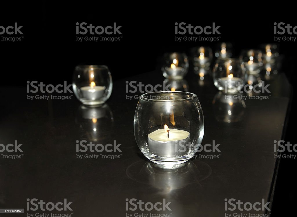 tea lights royalty-free stock photo