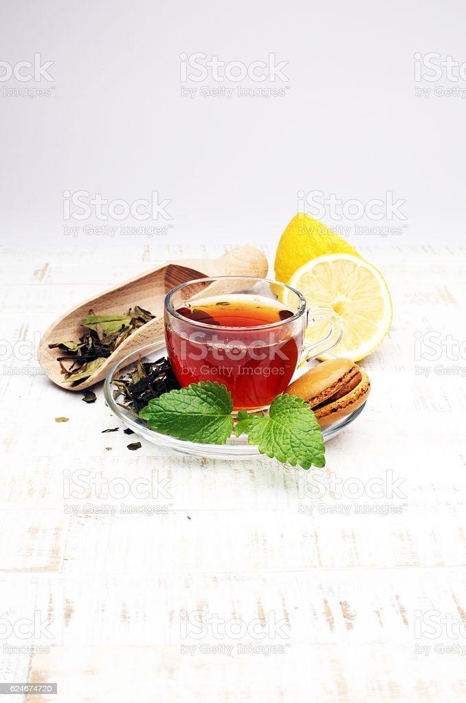 Tea. Mint Tea. Herbal tea. Mint leaf. stock photo