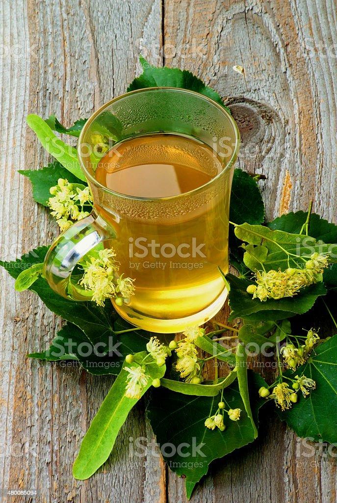 Tea of Linden-Tree Flowers stock photo