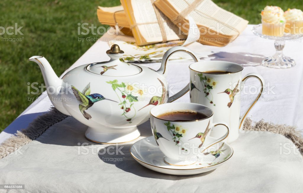 Tea on a summers day stock photo