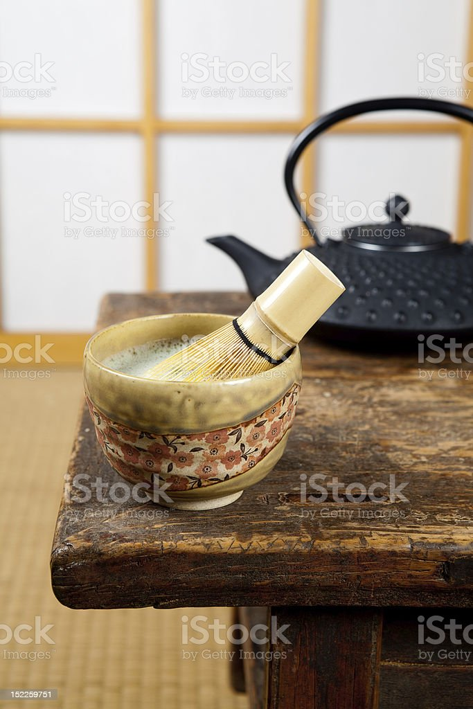 Tea on tatami royalty-free stock photo
