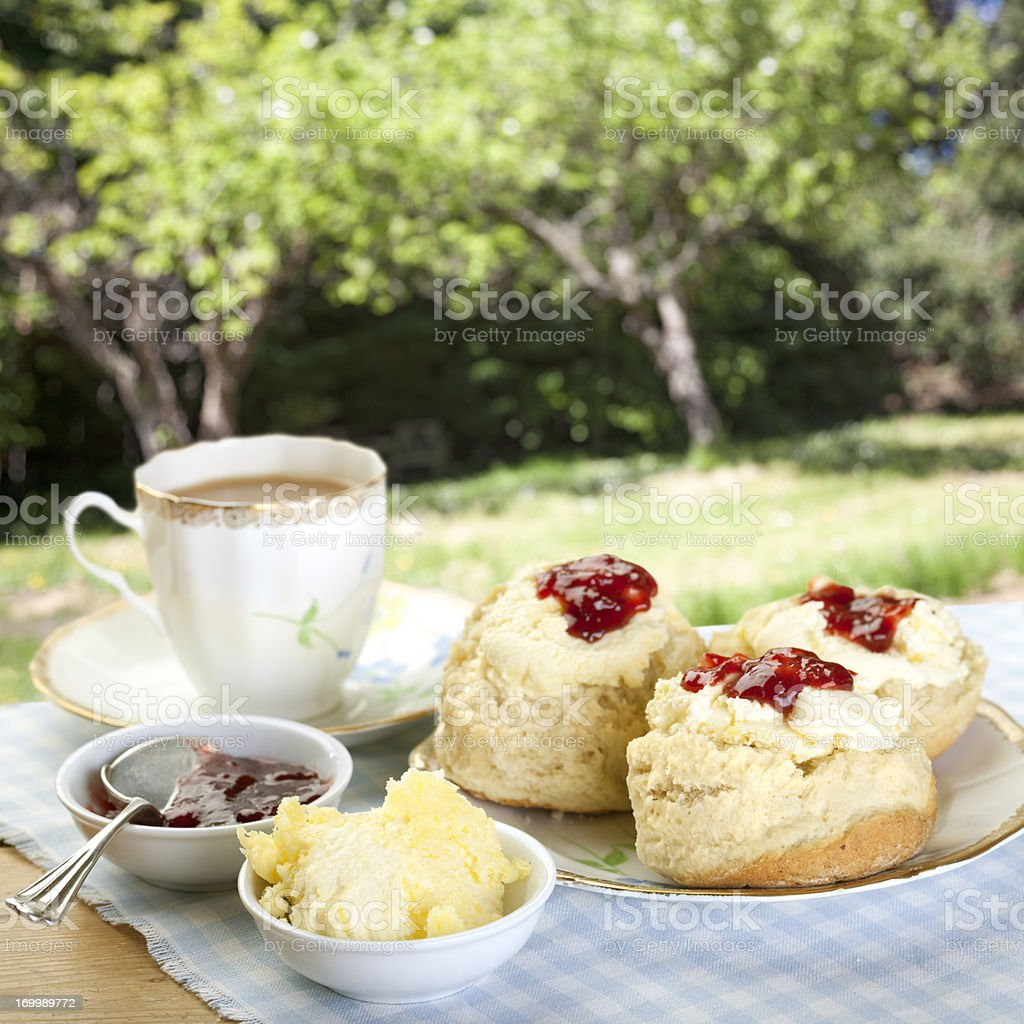 Tea on the Terrace stock photo