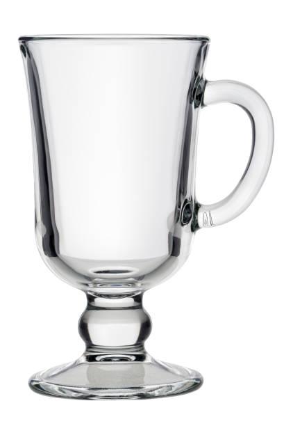 Tea or coffee glass cup stock photo