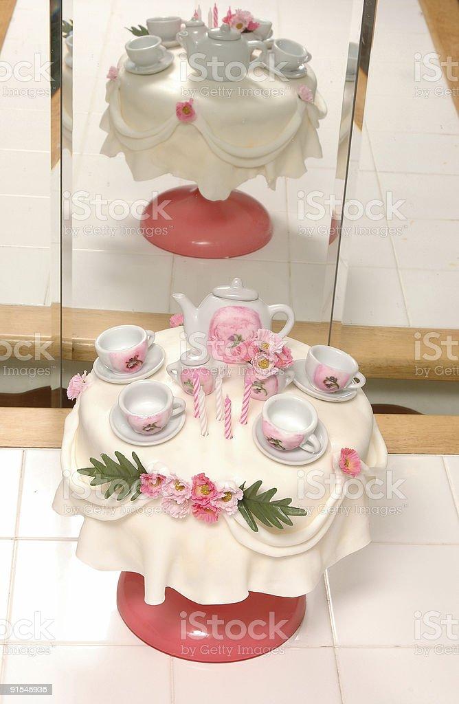 Astonishing Tea Party Birthday Cake Stock Photo Download Image Now Istock Funny Birthday Cards Online Necthendildamsfinfo