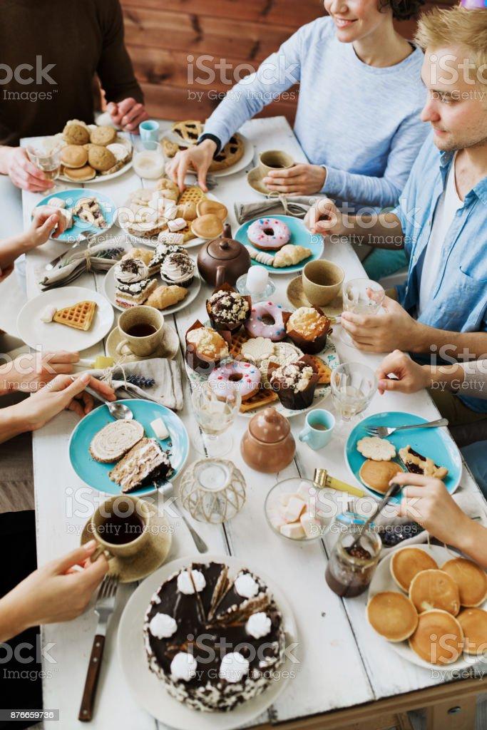 Tea-party Lizenzfreies stock-foto