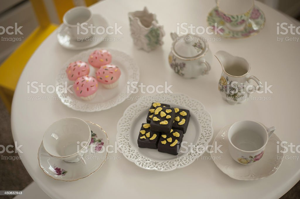 Tea Party Setup royalty-free stock photo
