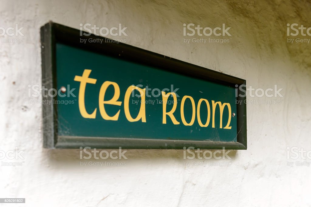 Tea room in Bunratty village (End of the Raite river) is an authentic small village in County Clare, Ireland stock photo