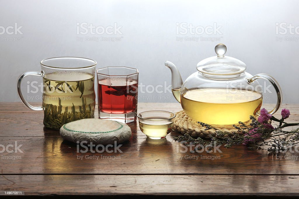Tea set royalty-free stock photo