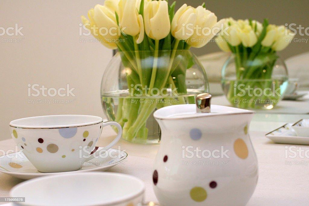 Tea Setting royalty-free stock photo
