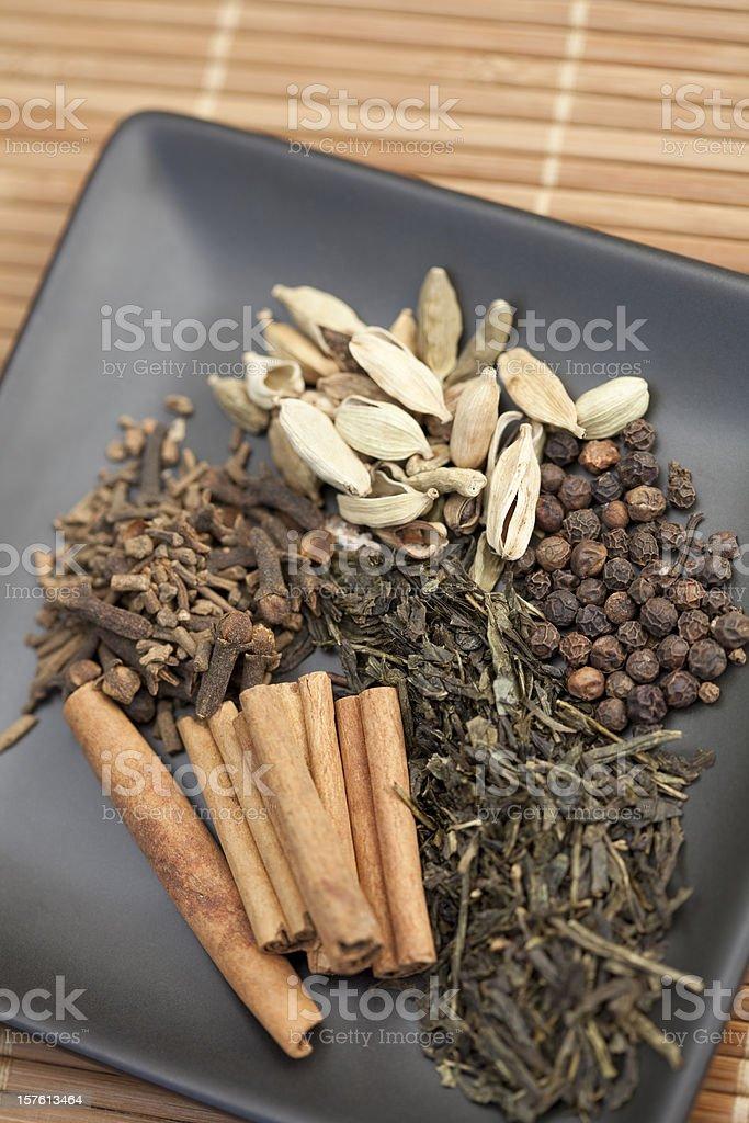 tea spices stock photo