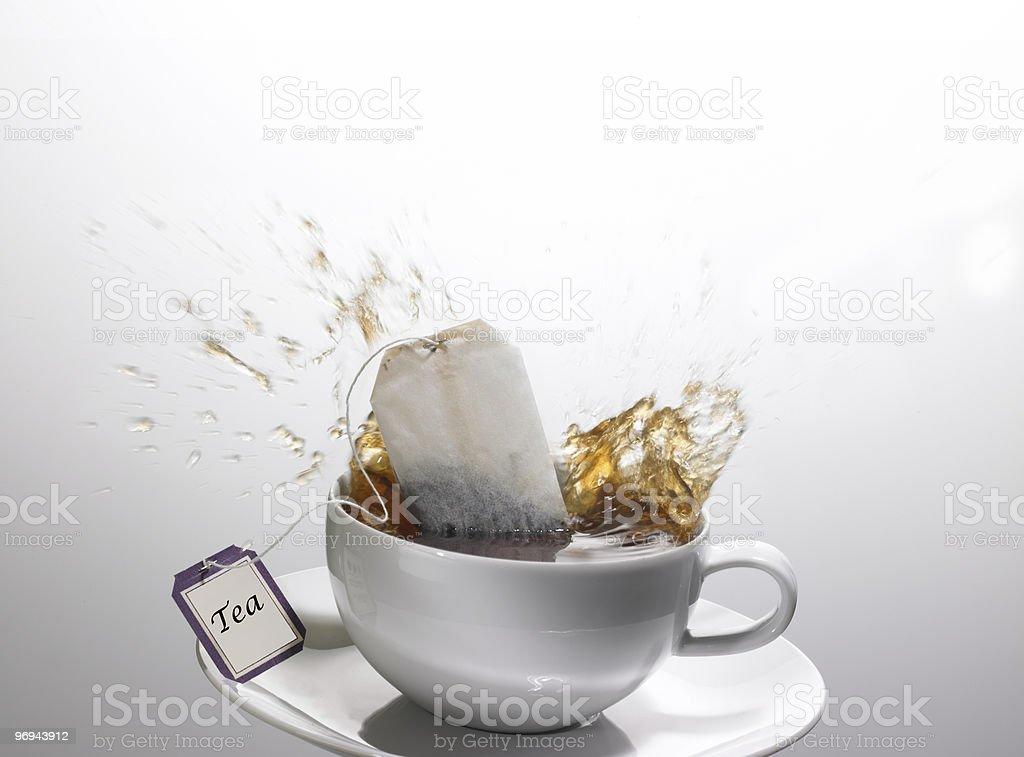 Tea Splash royalty-free stock photo