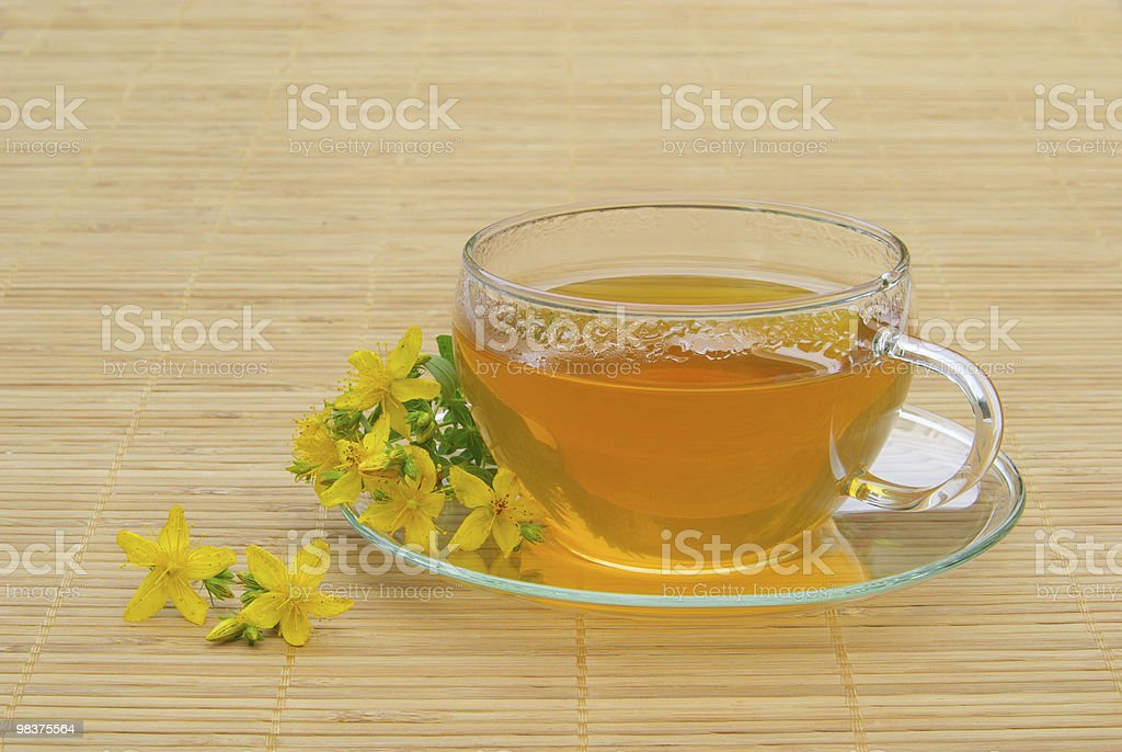 tea St Johns wort royalty-free stock photo