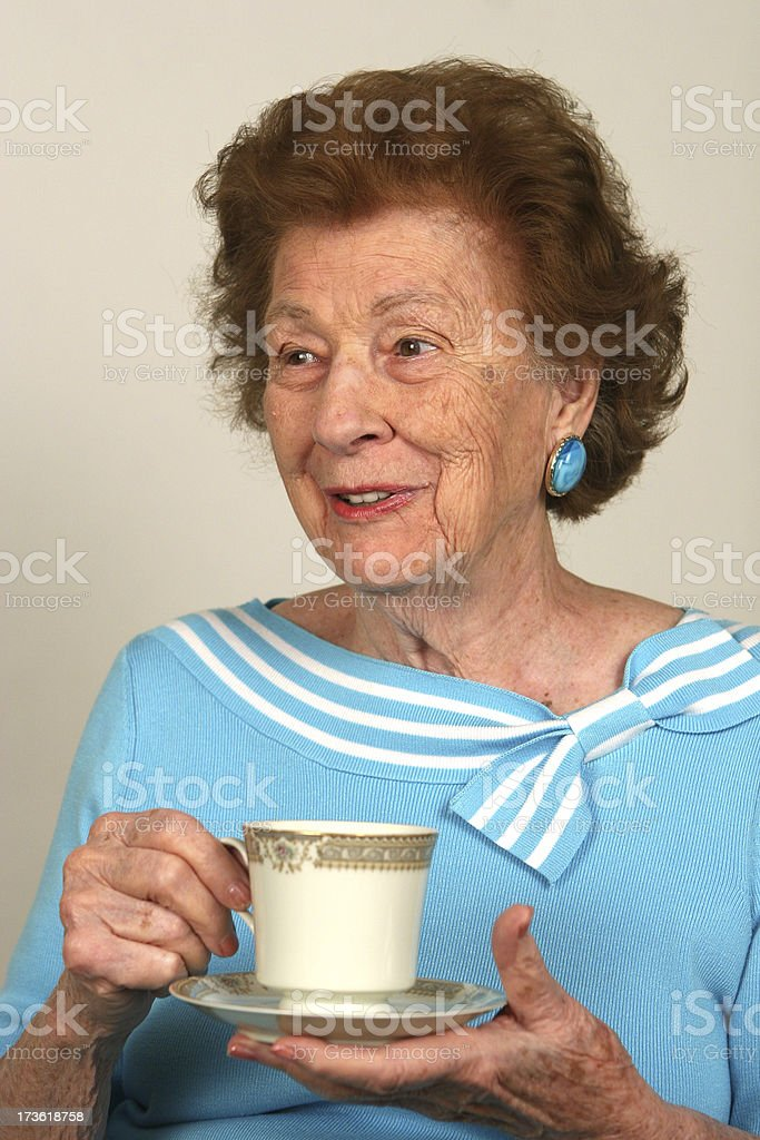 Tea time discussion royalty-free stock photo