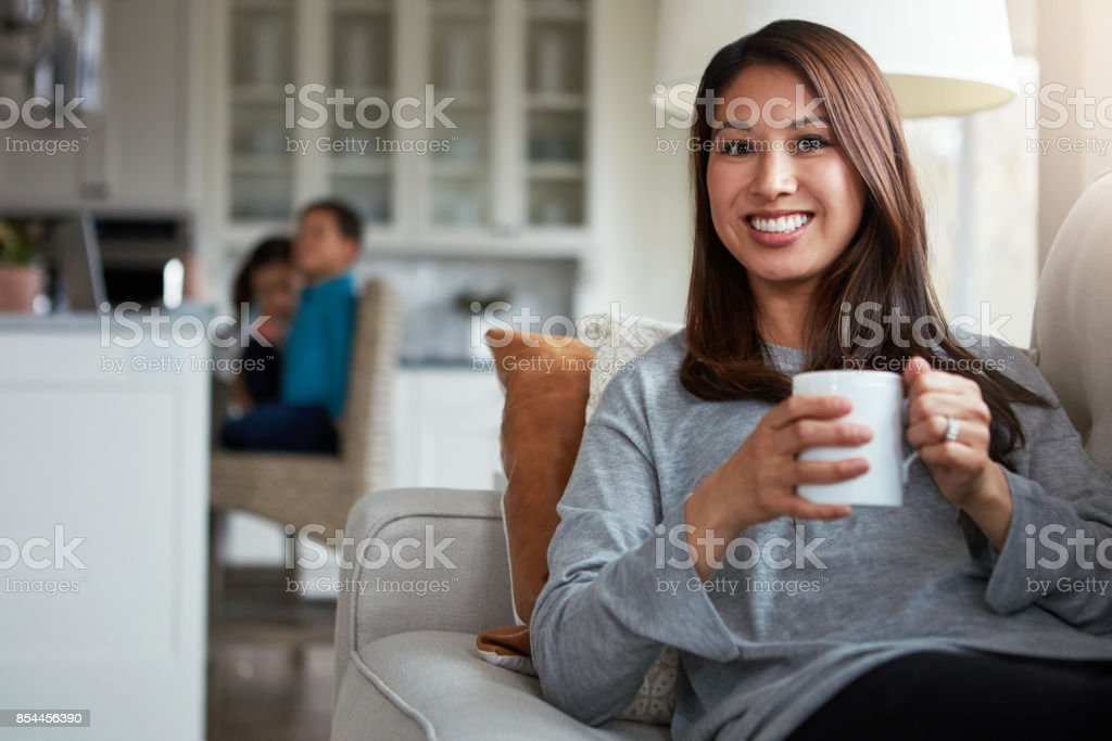 Tea time is me time stock photo